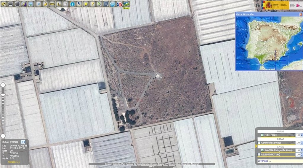 Detallada imagen del solar de El Ejido que Google mantiene oculto