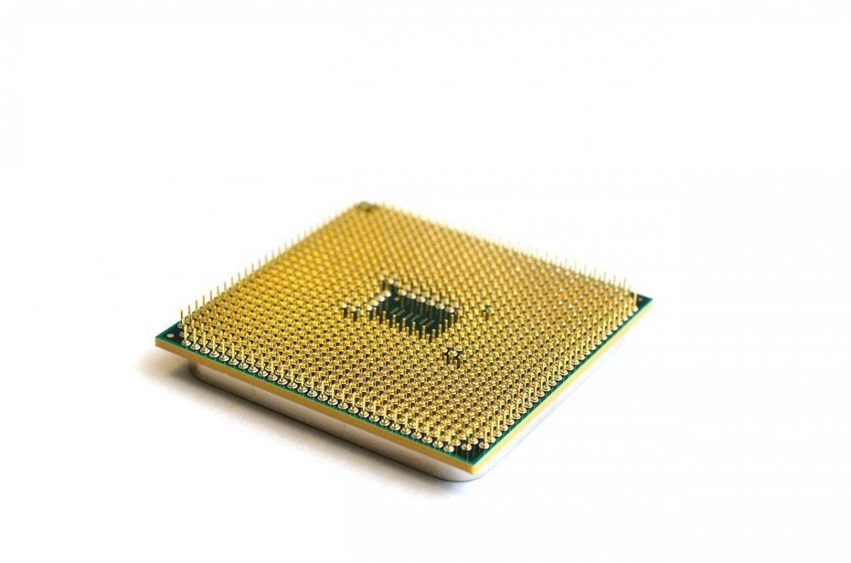 Detalle de los pines de un procesador