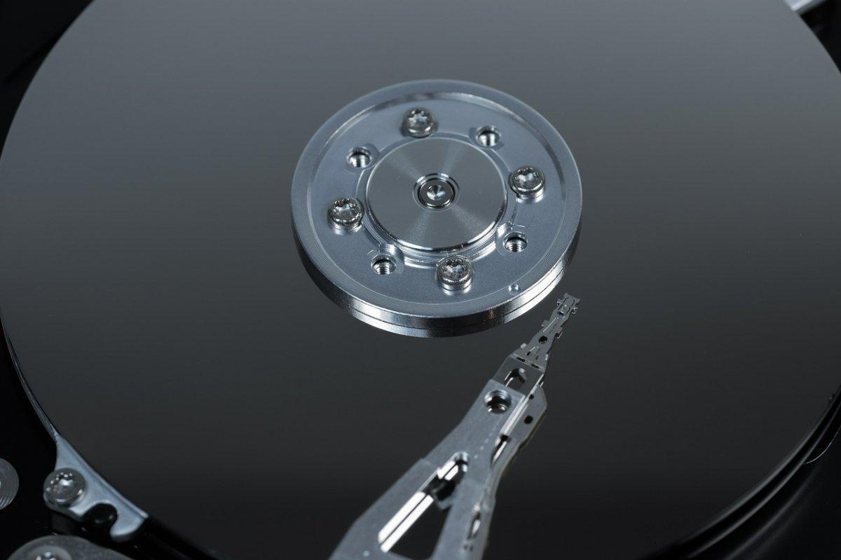 Detalle del disco y del brazo del actuador