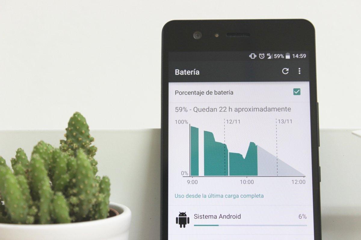 Detalle del uso de la batería en Android 5.0 Lollipop