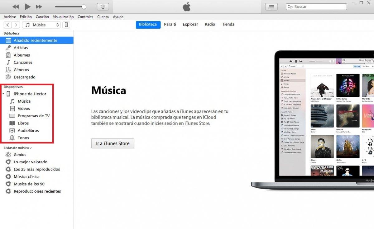 Detección de iTunes de un iPhone conectado al PC