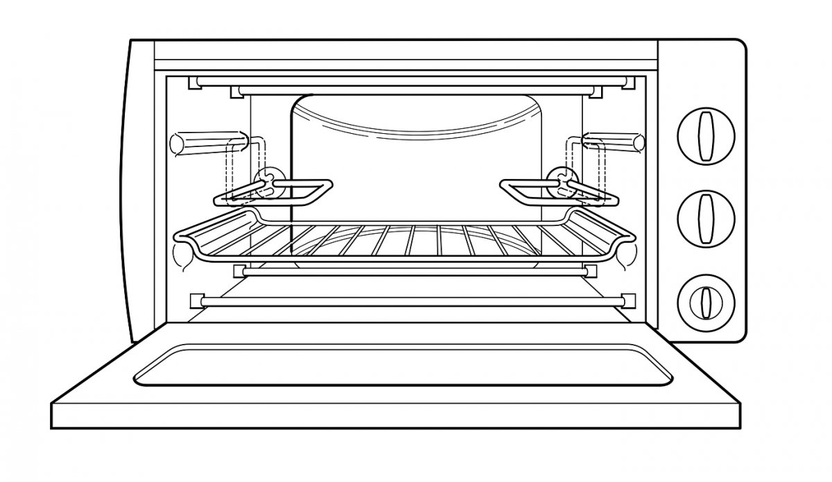 Dibujo de un horno microondas