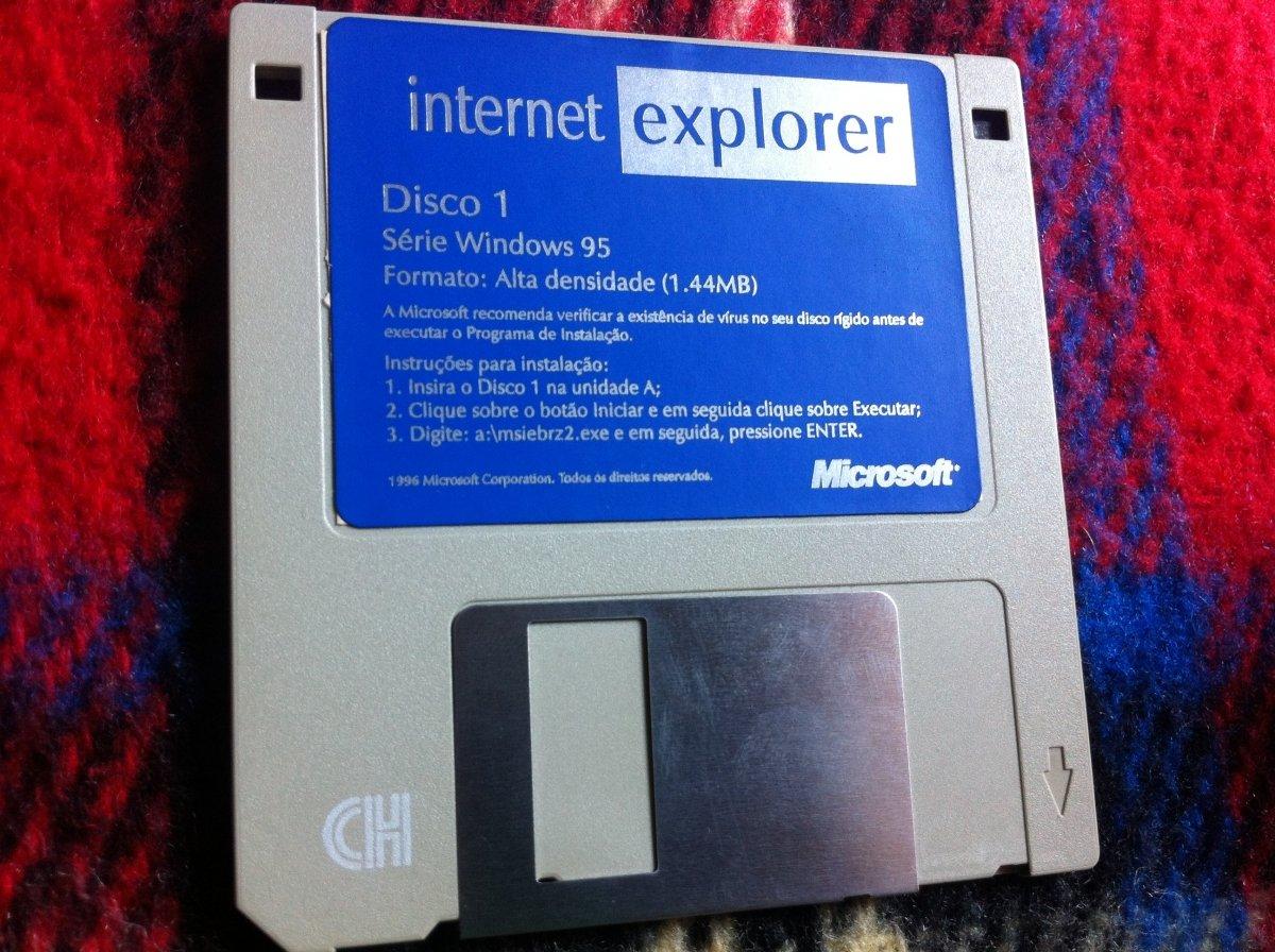 Disco de instalación de Internet Explorer para Windows 95