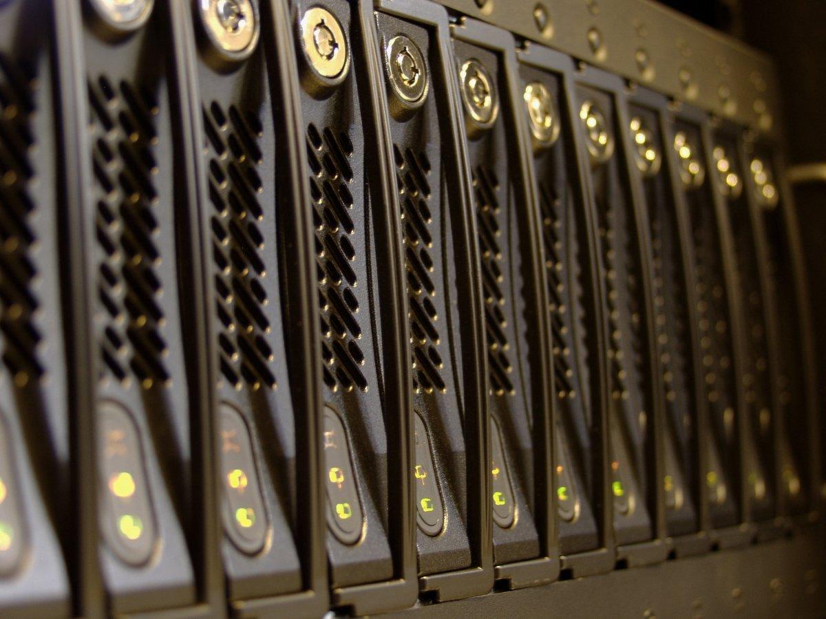 Discos duros en un servidor