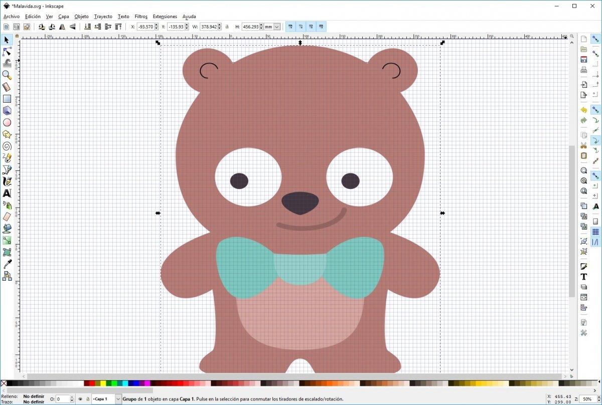 Diseño de un oso con Inkscape