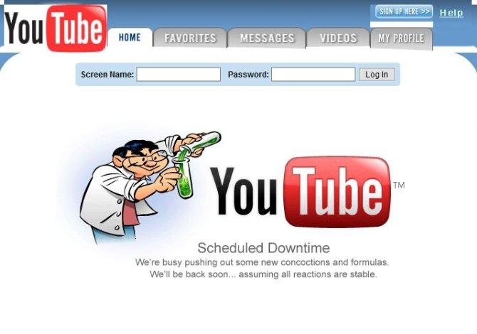 Diseño original de YouTube en el año 2005