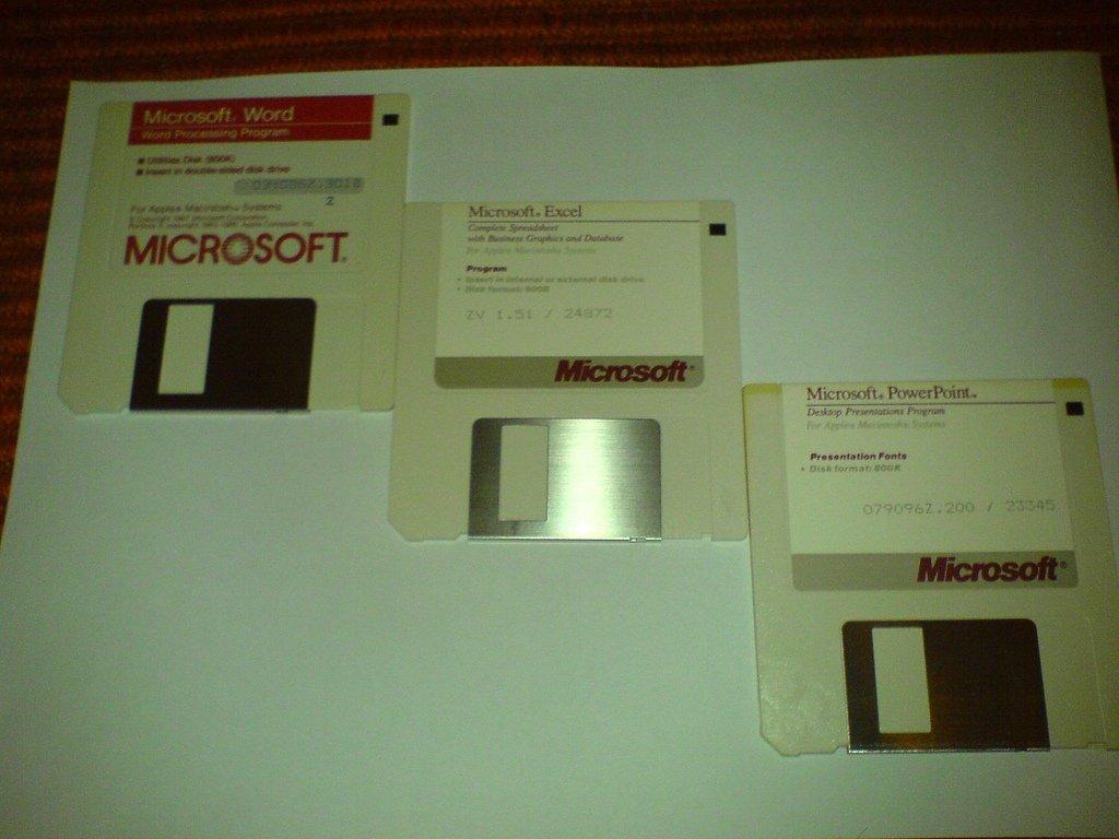 Diskettes de instalación de Microsoft Office para Macintosh