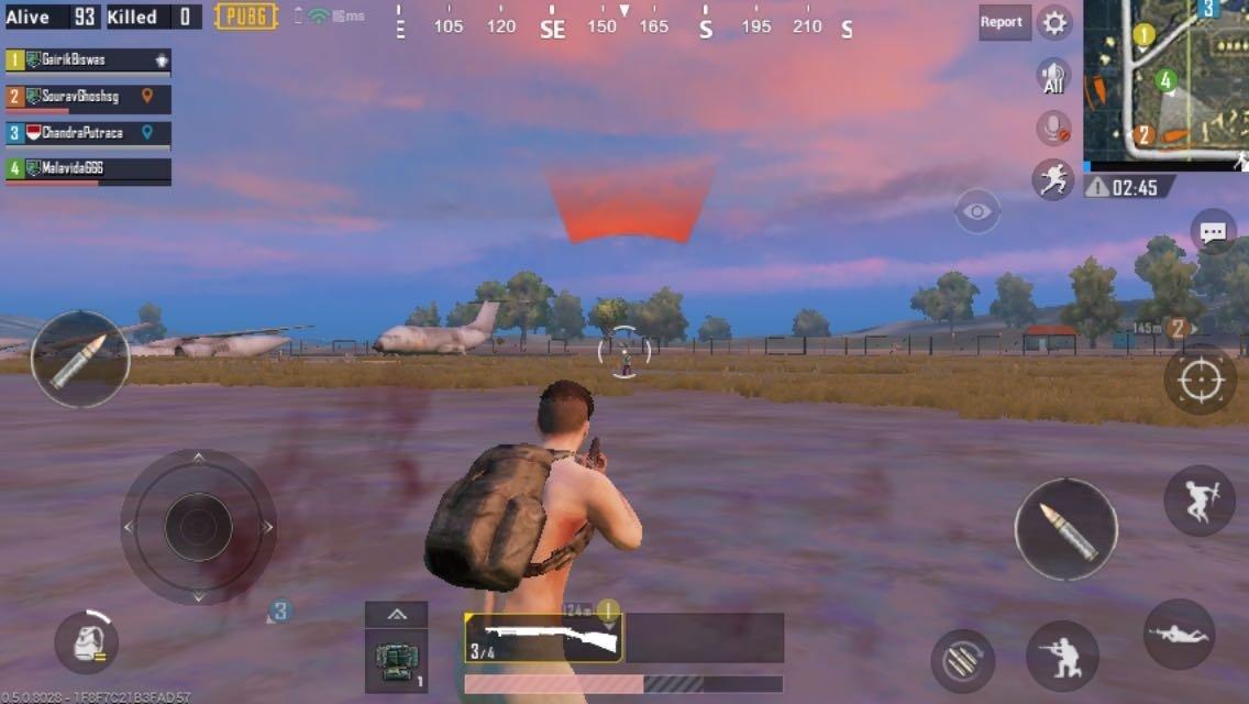 Disparando a un rival en PUBG