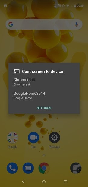Dispositivos detectados por Android
