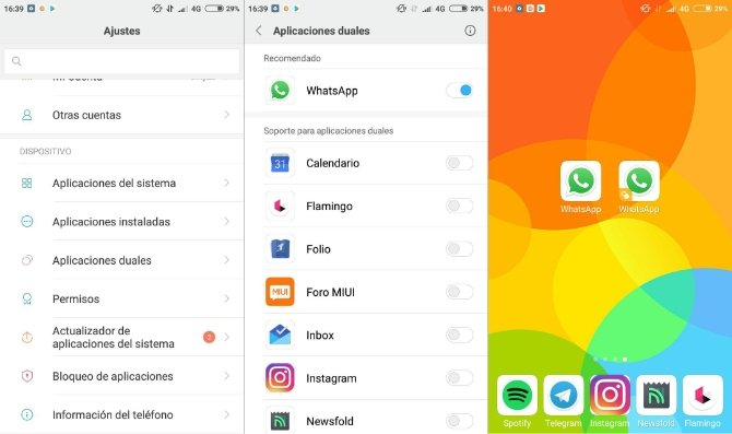 Duplicate WhatsApp on a Xiaomi phone