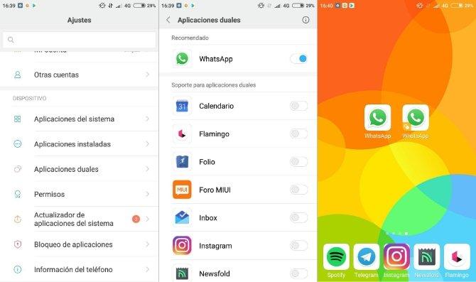 Duplicar WhatsApp en un teléfono Xiaomi