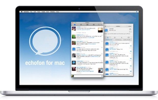 Echofon corriendo sobre un Mac