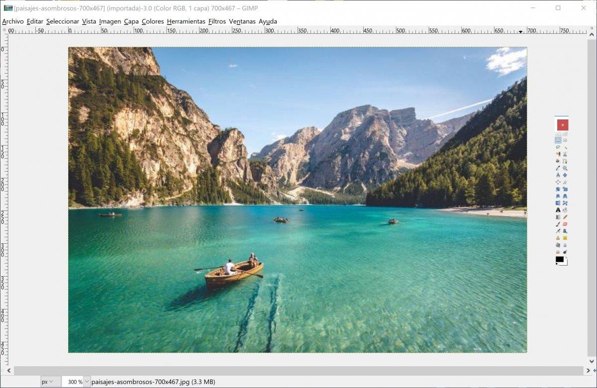 Edición de una imagen con GIMP