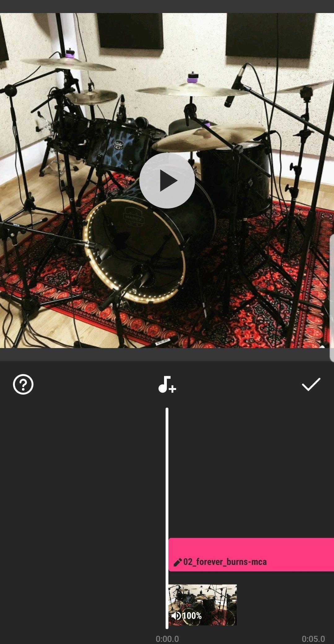 Edición del vídeo y de la música en InShot