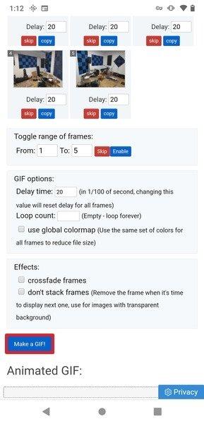 Edición y creación del GIF
