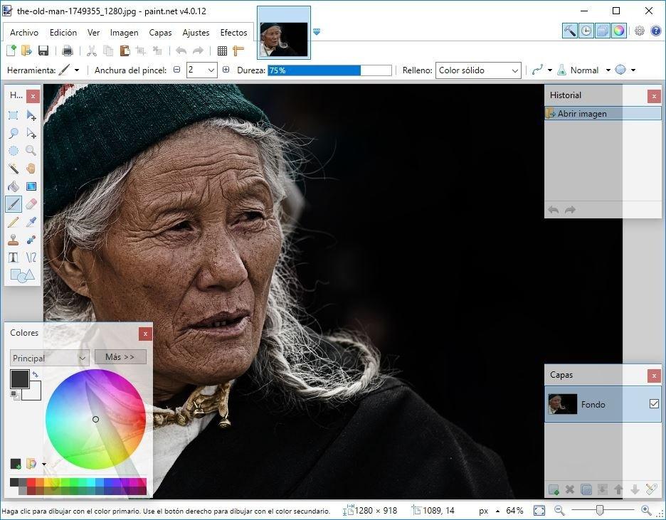 Editando una imagen en Paint.NET