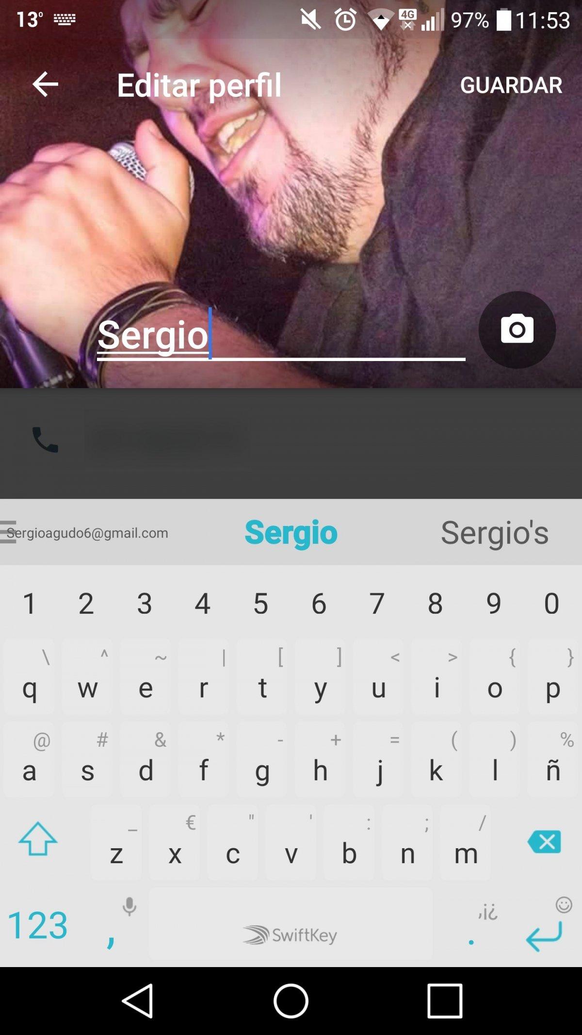 Editar el perfil de Google Allo