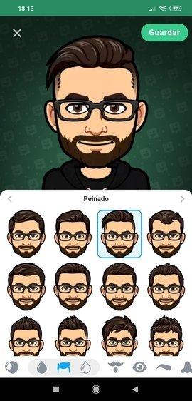 Editor de avatares de Bitmoji