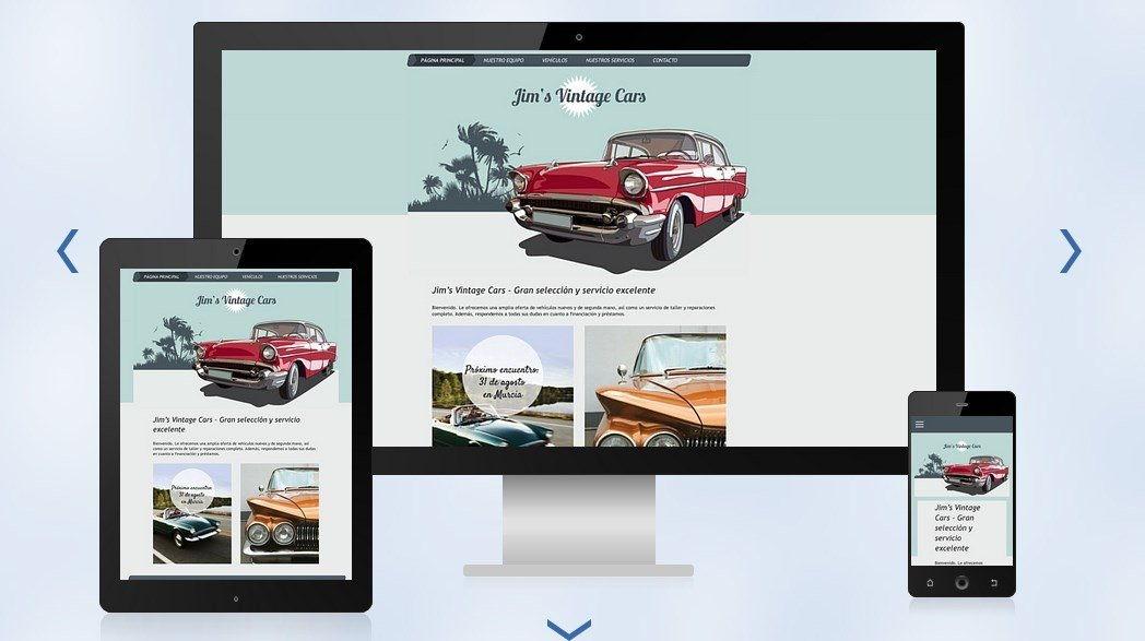 Ejemplo de plantilla HTML adaptable a diferentes dispositivos