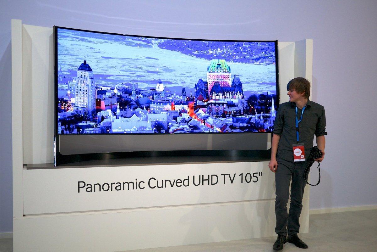 Ejemplo de una televisión de Samsung con resolución 4k UHD