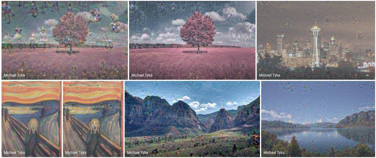 Ejemplos de los cuadros creados por la red neuronal de Google