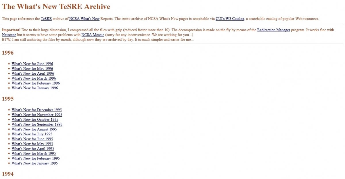 El Archivo TeSRE de novedades