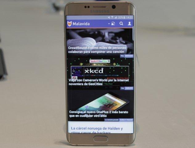 El aspecto del S6 edge+ es idéntico al del modelo anterior