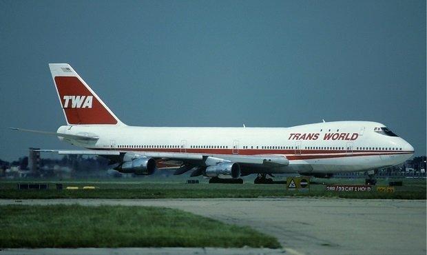 El avión de TWA que acabó siniestrándose