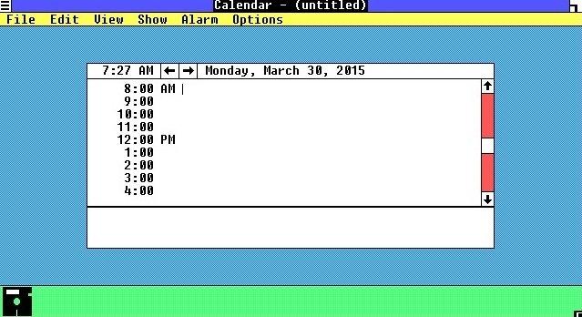 El Calendario de Windows 1.0 no se parece en nada al de versiones actuales