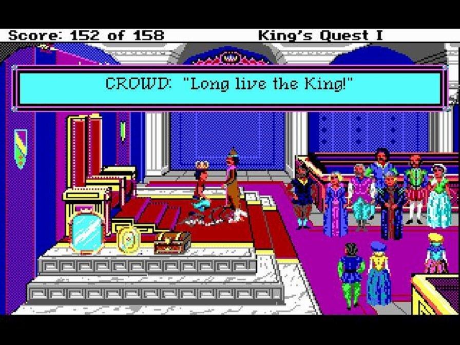 El clásico de Sierra On-Line King's Quest, bajo el motor AGI