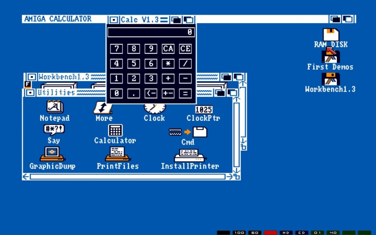 El emulador de Amiga 500 viene con demos y distintas utilidades