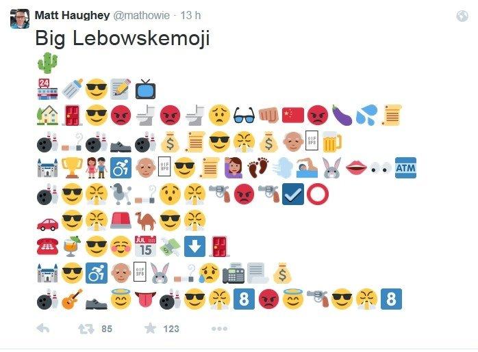 El Gran Lebowski en emojis parte 1