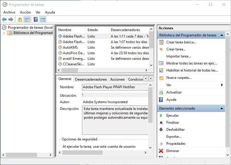 El malware puede programar sus propias tareas en el sistema operativo