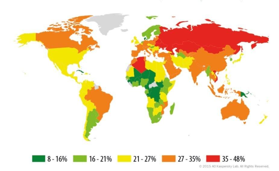 El menor riesgo de infección local está en Cuba