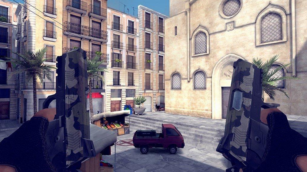 El personaje de Critical Ops con dos pistolas