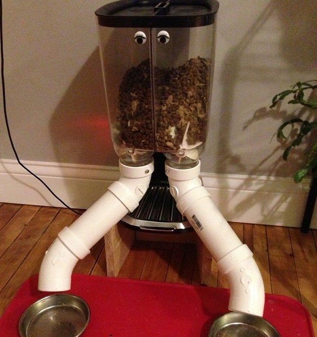 El Power Cat Feeder: ponerle ojos era necesario