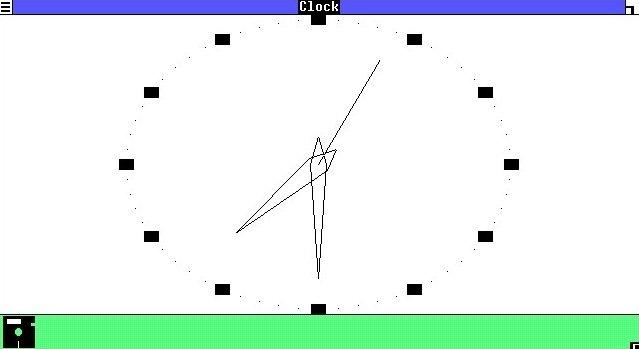 El reloj de Windows 1.0 cumple su cometido y poco más