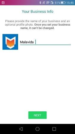Elegir el nombre de empresa en WhatsApp Business