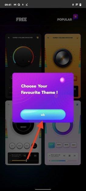 Elegir tema de la aplicación