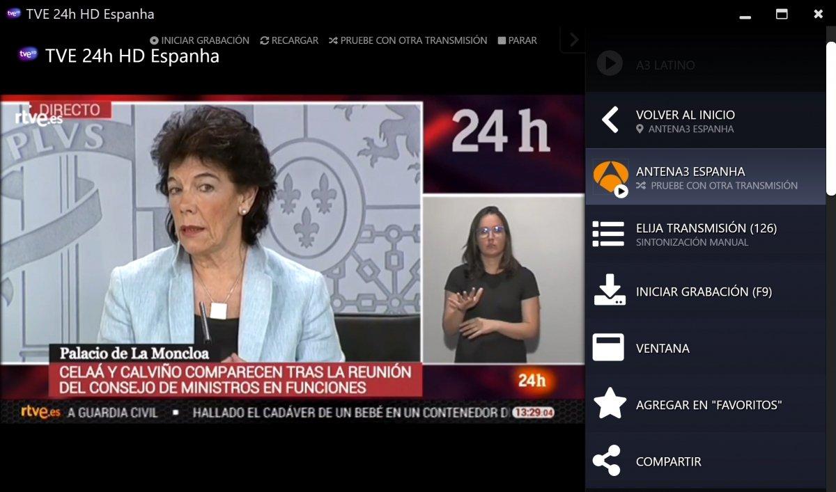 Emisión de TVE a través de Megacubo