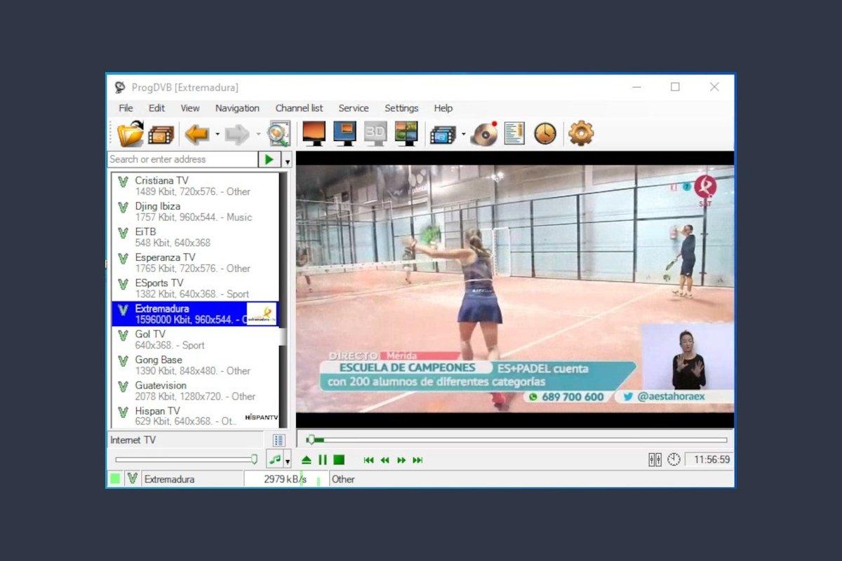 Emisión de una TV autonómica con ProgDVB