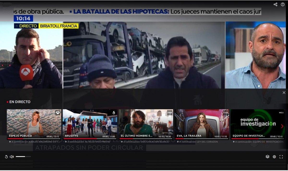 Emisión web de Antena 3