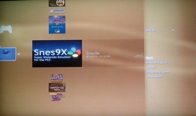 Emulador Super Nintendo para PlayStation