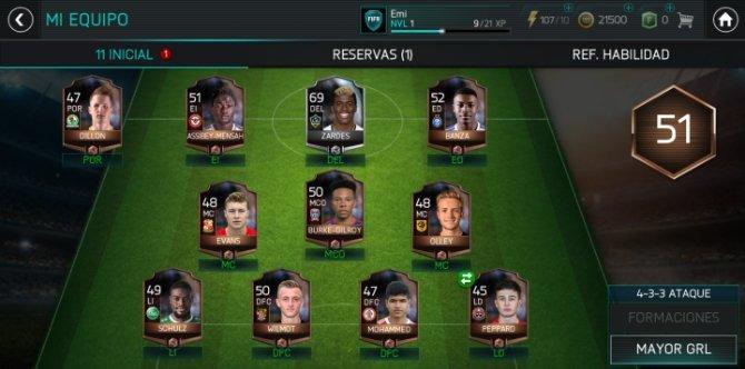 En FIFA Mobile nos centraremos en lograr los mejores 11 jugadores para nuestro equipo