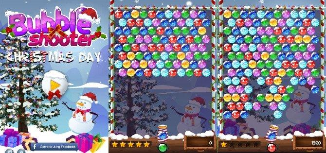 ¿Enganchado a los juegos de burbujas? Aquí una versión navideña: Bubble Shooter Christmas Day