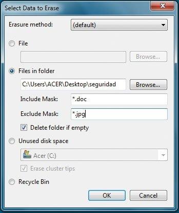 Eraser software de limpieza