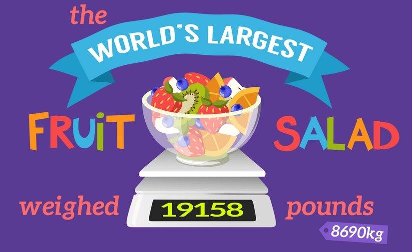 Es posible preparar 50 ensaladas de 8.690kg con las frutas rebanadas