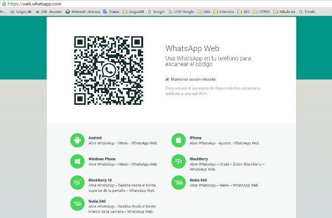 Escanea el Código QR de WhatsApp Web con tu smartphone