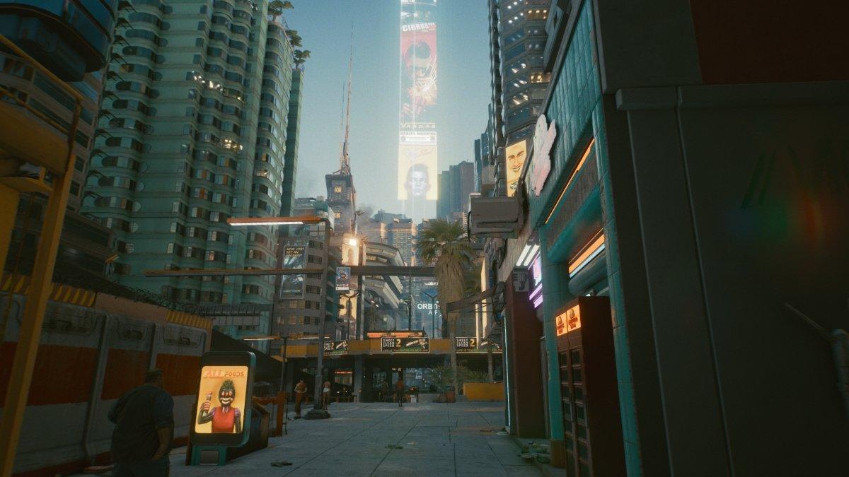 Escena de Cyberpunk 2077