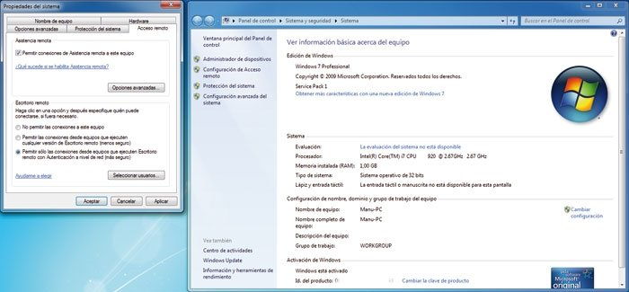 Escritorio remoto Windows 7 1